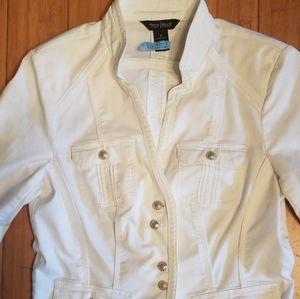 white house black market white military jacket 10